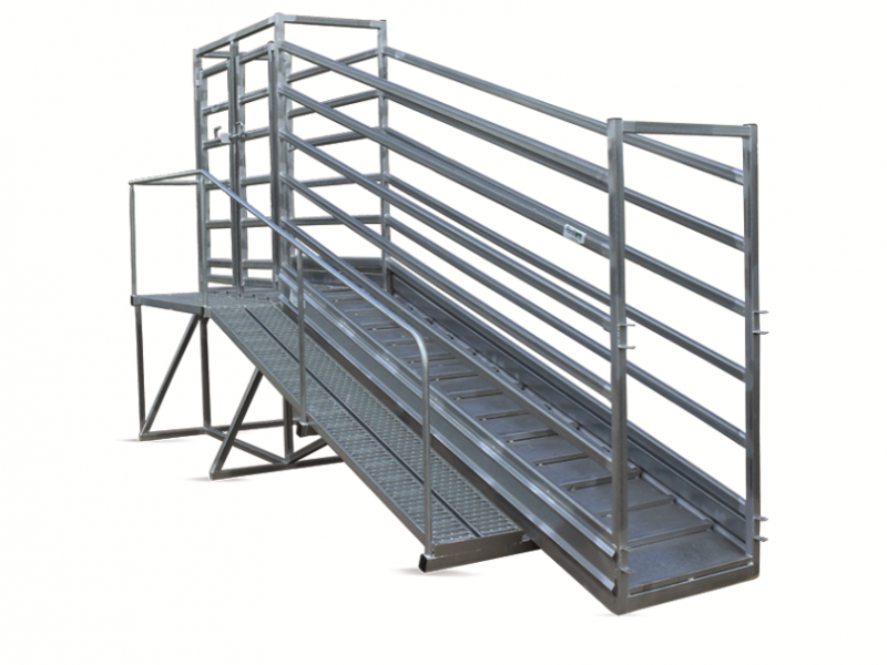 Cattle Loading Ramp with level extension (2)