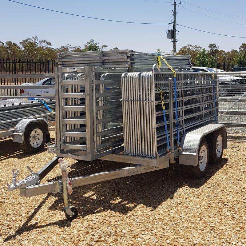 Dual axle goat yard