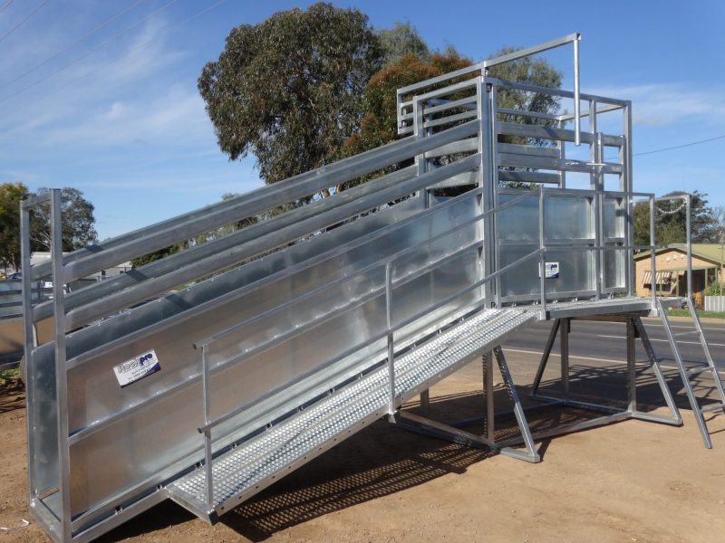 Heavy Duty Permanent cattle Loading Ramp (5)