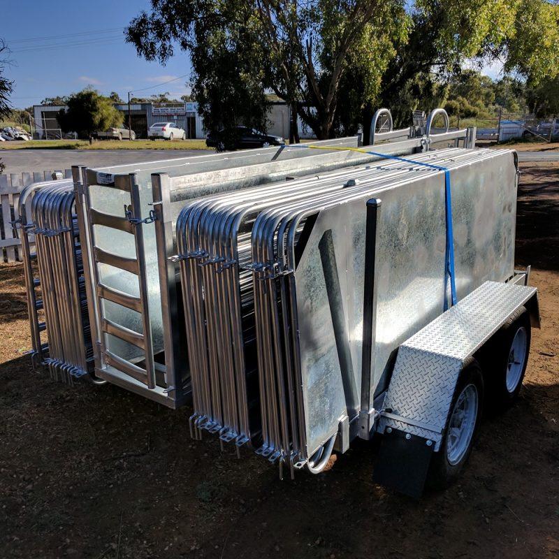 dual axle sheep yard